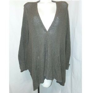 Gray Slouch Oversized Knit Sweater Free People